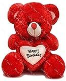 Rushi Enterprise 2 Feet Around With Birthday Heart Stuffed Soft Plush Toy (Red)