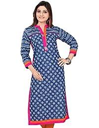 The Style Story Blue Designer Cotton Kurti