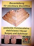 Bauanleitung für steckbare Bausteine aus Holz. Bauklötze für Kinder ab 3 Jahren selber herstellen