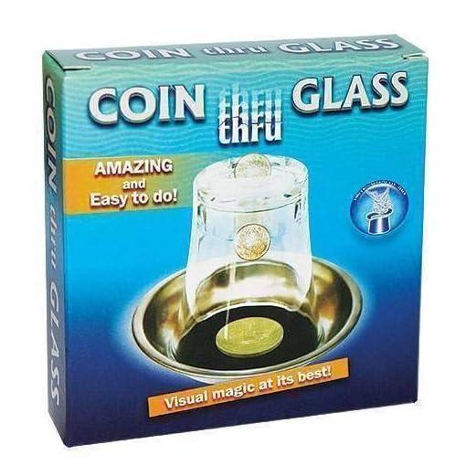 Coin-Thru-Glass-Magie-mit-Tuch-Zaubertricks-und-Magie