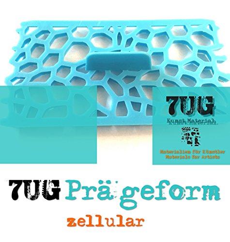 7UG Prägeform zellular/Organische Zellen für Strukturpasten, Ton, Fimo, Paperclay, Auch Fondant...