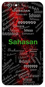 Sahasan (Powerful; Mighty) Name & Sign Printed All over customize & Personalized!! Protective back cover for your Smart Phone : Moto G3 ( 3rd Gen )