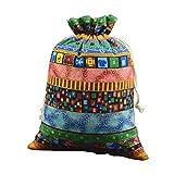 LUOEM Sacchetto di nappe gioielli borsa di tela gioielli coulisse borsa sacchetto di favore del regalo della festa nuziale 15 x 20 cm (colore casuale)