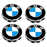 Satz von 4 Nabenkappen Felgendeckel Radnabendeckel für BMW, Nabendeckel 56mm Felgenkappen für BMW Felgen Wheel Centre hub caps