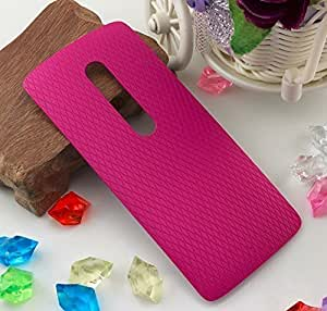 Plus Replacement Battery Door Panel Housing Back Cover Case Shell for Motorola Moto X Play - Dark Pink