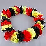 LED Hawaiikette leuchtend und blinkend, Blumenkette Deutschland schwarz-rot-gold, Fanartikel WM, EM Europameisterschaft -