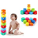 Alxcio Giocattolo da Bagno bambino Tazze Impilabili giocattoli educativi Galleggianti gioco miglior regalo per il tuo bambino