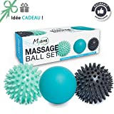 Relax - Massageball Set - 2 Igelbälle  & 1 Lacrosse Massage Ball - Massage von dem Rücken