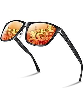 PAERDE Unisex Retro Al-Mg Metal Frame Polarized Gafas de sol para hombres Mujeres