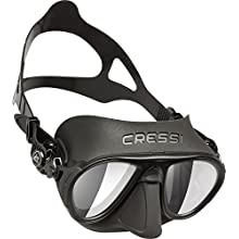 Cressi Calibro Professional Scuba Diving Freediving Mask with Anti Fog Technology, Black/Lens HD, One Size