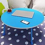 XJY Taccuino Piccolo Tavolo Rotondo con Tavolo da Pranzo Pieghevole Tavolo da Gioco Pieghevole (Color : Blue)