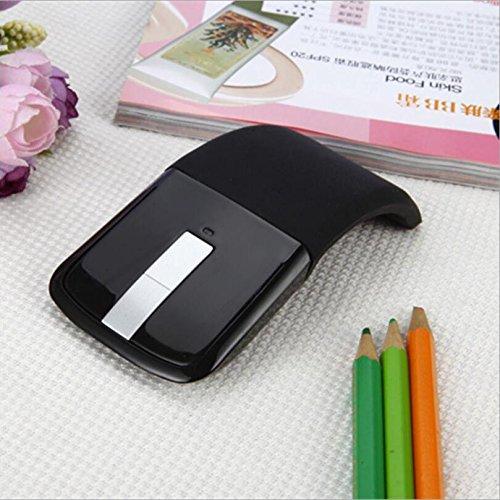 Faltung Touch Ultradünne Drahtlose Maus Tragbare Kreative Persönlichkeit Maus,Black