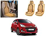 #3: Auto Pearl - Premium Quality Car Wooden Bead Seat Cover For - Hyundai I10 Grand 2017 - Set of 2Pcs
