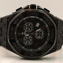 Aqua Master Royal Oak Mens Diamond Watch 8.50ctw W3257