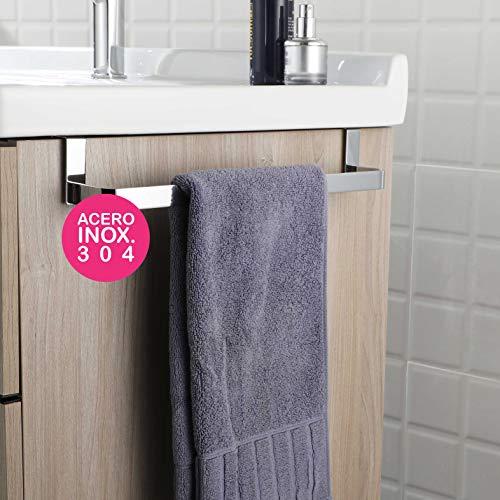 Kibath 321054 Toallero sin taladros para mueble de baño (29 cm), 29cm