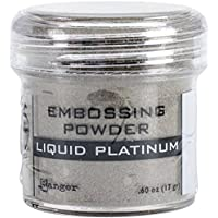 Ranger Embossage poudre 1Oz Jar-Liquid Platinum