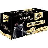 Sheba Delux Premium Wet Cat Food, Tuna & Prawn in Gravy, 4 Cans (4 x 85g)