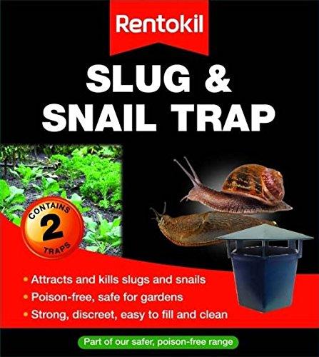 Rentokil Piège à Escargots et limaces, sans poison, facile à nettoyer Lot de 2