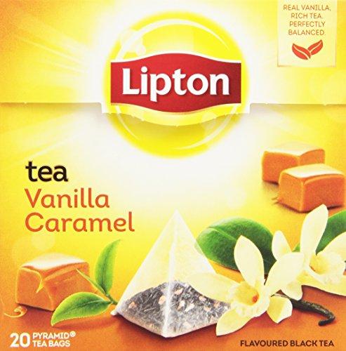 Lipton - Tè Vaniglia e Caramello - 4 confezioni da 20 filtri