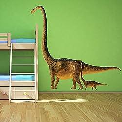 Dinosaurio Brontosaurus vinilos decorativo Chicos jurásico adhesivos pegatina pared Decoración del dormitorio de los niños Disponible en 8 Tamaños XX-Grande Digital