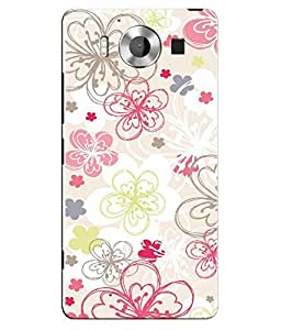 Citydreamz Floral Print Hard Polycarbonate Designer Back Case Cover For Microsoft Nokia Lumia 950
