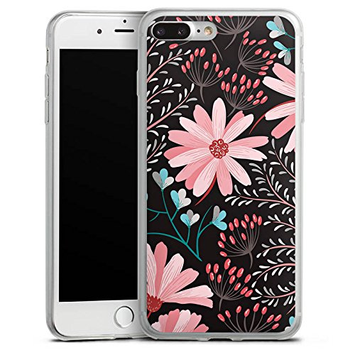 Apple iPhone 6s Plus Slim Case Silikon Hülle Schutzhülle Blumen Herbst Muster Silikon Slim Case transparent