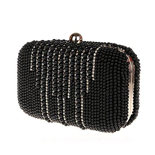 Nuova borsa banchetto diamante della frizione vestito bag sposa borsa da sera borsa moda mini borsetta ( Colore : Nero ) Nero