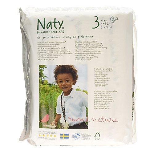 Naty AB - Pañal Nº 3 Naty 4-9 kg, 31 ud.