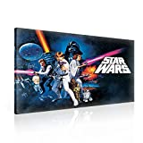 Star Wars Neue Hoffnung Leinwand Bilder (PPD729O1FW) - Wallsticker Warehouse - Size O1 - 100cm x 75cm - 230g/m2 Canvas - 1 Piece