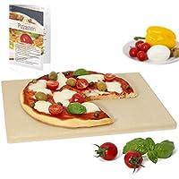 Amazy piedra para pizza / Dele a su pizza el original sabor italiano al horno de leña, tierno pero crujiente. (38 x 30 x 1,5 cm)
