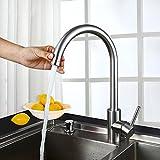 Homelody 360° schwenkbar Wasserhahn Küche Spültisch Armatur Spüle Mischbatterie Spülbecken Spültischarmatur Edelstahl Küchenarmatur für Küchen