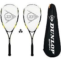 Dunlop Nanomax Pro lot de 2 raquettes de Squash 3 balles