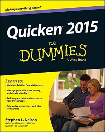 Quicken Dummies (Quicken 2015 For Dummies (Quicken for Dummies) by Stephen L. Nelson (2014-10-06))