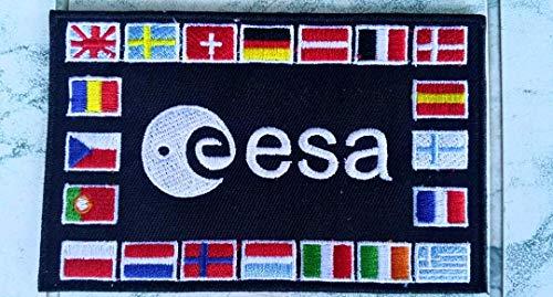 NASA weiß bestickt Patch Eisen nähen auf Astronaut Spaceman Patch oder Badge Fancy Kleid Kostüm T Shirt Tasche Jacke (Nasa Bestickte Kostüm)