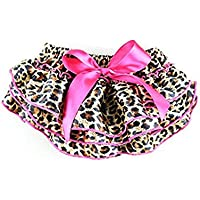 EQLEF® neonate sveglie Ruffle riassumono le mutande di Bloomers leopardo di modo del bambino del modello