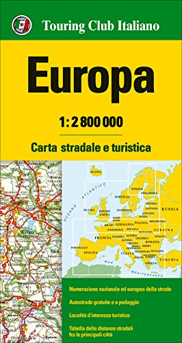 Europa 1:2.800.000. Carta stradale e turist