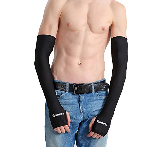 Manguito de compresión brazo protección solar Unisex manguitos anti UV refrigeración mango...
