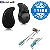Drumstone S530 1pcs In-Ear V4.0 Stealth Earphone Phone Headset Handfree (Assorted Color) With Free Gift Works With All Android Or IPhone Devices (1 Year Warranty, Color May Vary)