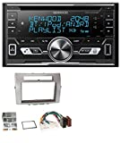 caraudio24 Kenwood DPX-5100BT Aux CD 2DIN MP3 Bluetooth USB Autoradio für Toyota Corolla Verso 04-09 Silber