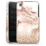 DeinDesign Apple iPhone 3Gs Coque Étui Housse Marbre rosé Scintillant