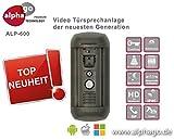LAN IP SIP Video Türsprechanlage ALP600 - 8GB Speicher - 12V Gleichspannung - Überwachungskamera - kein Cloud Server - Fritz!Fon C4/C5 kompatibel - Steuerung über PC / Smartphone / Tablet - FTP Anbindung - Bewegungssensor mit Bereichsmarkierung