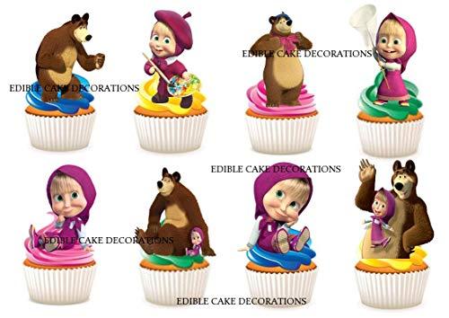 Bär Party Stand up Essbare Papier Cupcake Topper Kuchen Dekorationen ()