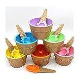 Kids lovely Ice Cream gelato ciotole di coppie regali ciotola da dessert (6pz (tutti i colori))