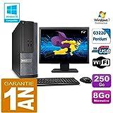 Dell PC 3020 SFF Intel G3220 Ram 8Go Disque 250 Go WiFi W7 Ecran 19' (Reconditionné Certifié)