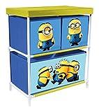 p:os 25704 Spielzeugregal mit 3 Boxen Minions