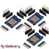 AZDelivery ⭐⭐⭐⭐⭐ 3 x D1 Mini NodeMCU Lua ESP8266 ESP-12E WLAN WiFi Internet Module Entwicklungsboard für Arduino, 100% kompatibel mit WeMos D1 Mini