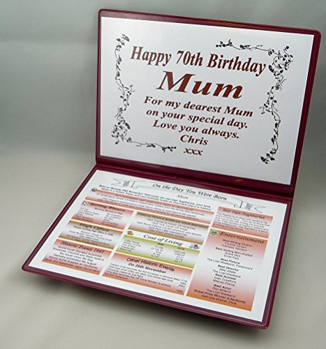 NWM-Gifts SPECIAL 70TH BIRTHDAY GIFT -1949-THE DAY YOU WERE BORN KEEPSAKE-NavyScroll