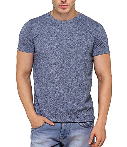 B&W Men's Premium Grindle Round Neck T-Shirt - Navy Blue 1
