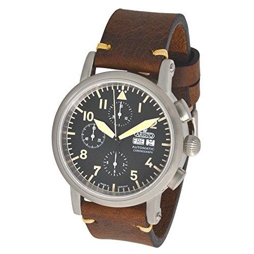 Aristo Hombre Cronógrafo Automático Vintage 7h186Cristal de zafiro 7h186ETA 7750de reloj Swiss Made