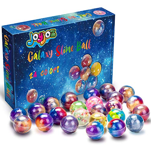 Joyjoz Slime Galaxy Fluffy Slime, 24 Packungen Putty Slime Kit DIY Schleim Bälle, Partygeschenkset Stressabbau Lernspiel für Kinder und Erwachsene